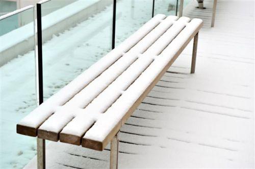 组图:今年的第一场雪开始融化了