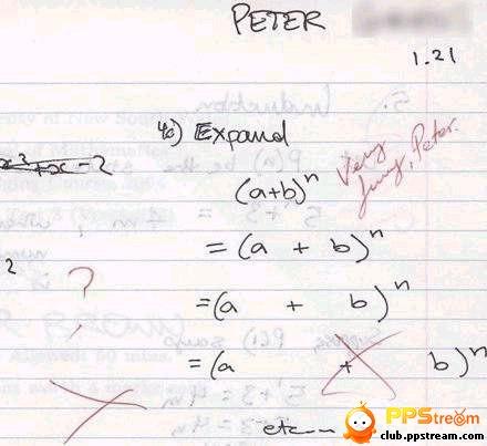 外国小孩做的数学题