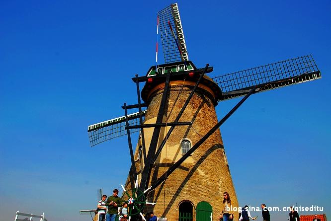 【荷兰】风车之最,小孩堤坝风车群