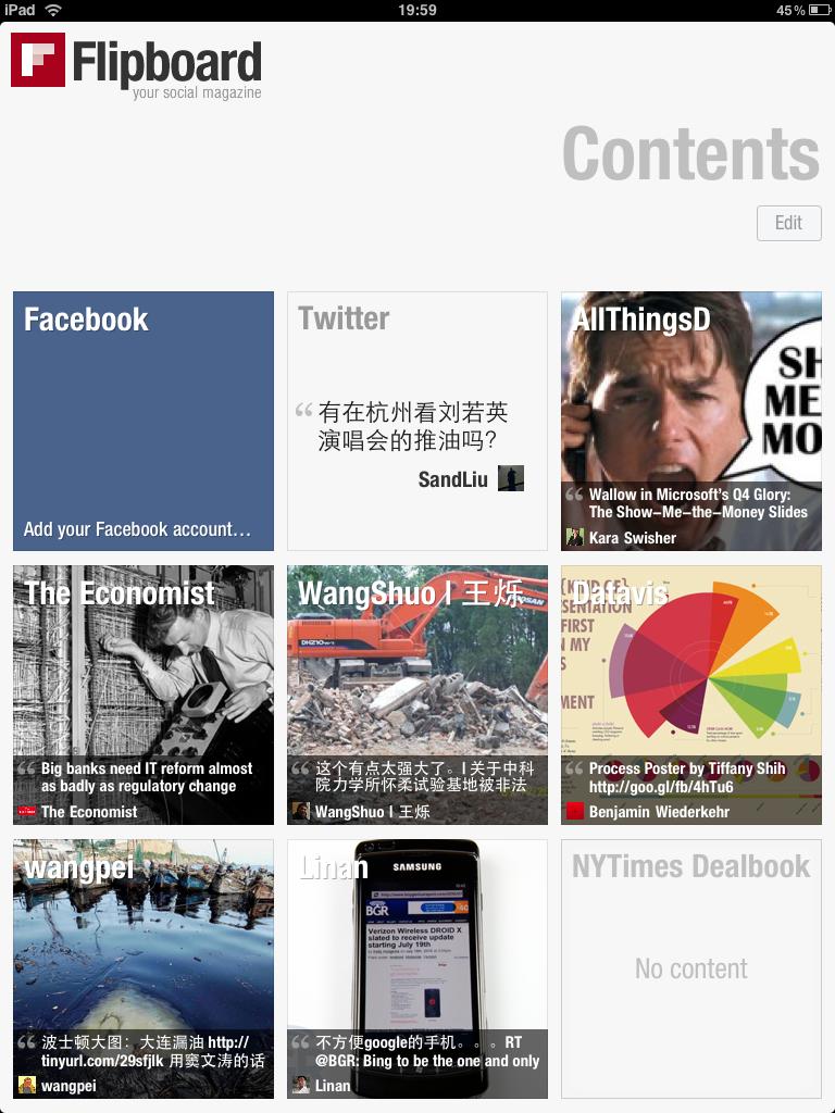 评iPad第一个杀手程序Flipboard