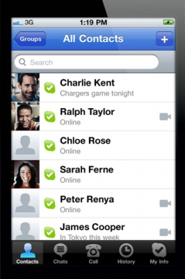Skype可与iPhone通话