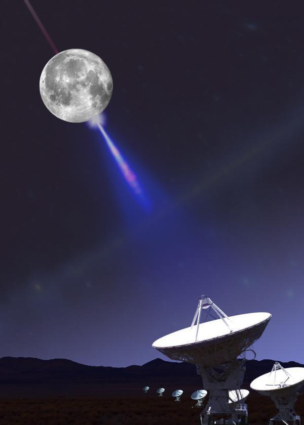 用月球探测中微子