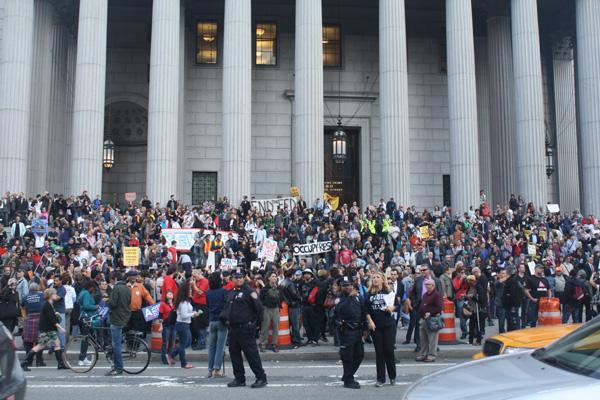 占领华尔街(二):工会加入 声势壮大