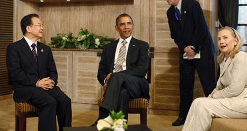温家宝向奥巴马示弱?
