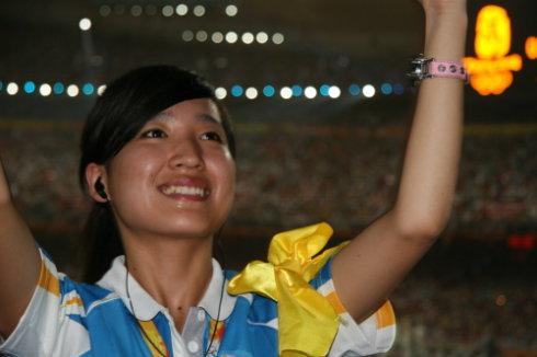 奥运开幕式上三位无名志愿者