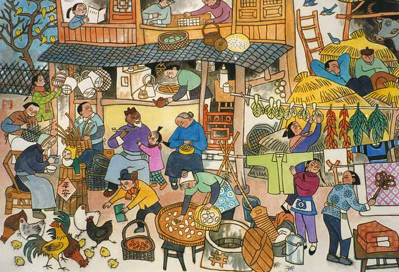 春节观察:乡村庆典是为饥饿准备的套餐