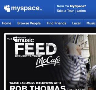 Myspace更换新logo