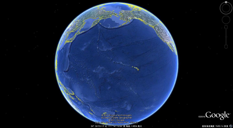 地球板块蓝色背景素材