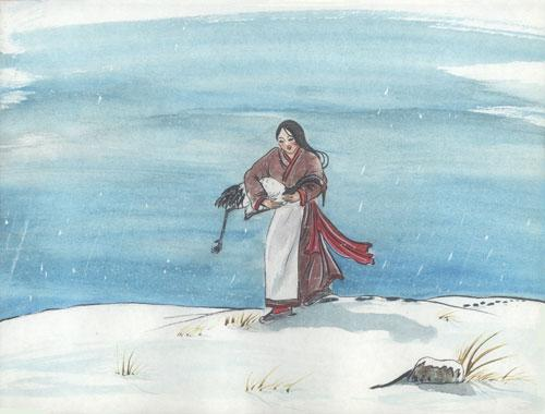 幻灯片:高原黑颈鹤爱情绝唱