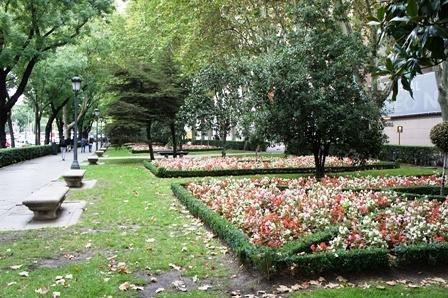 入秋的马德里街头