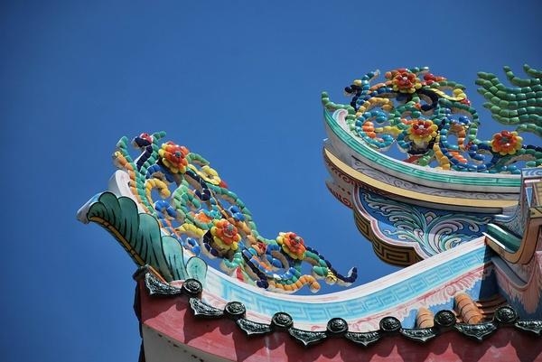 大城 水尾圣娘庙 屋檐一角图片