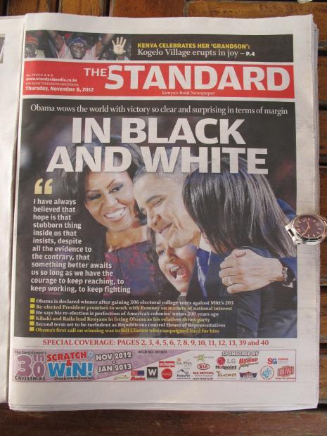 奥巴马连任,肯尼亚沸腾