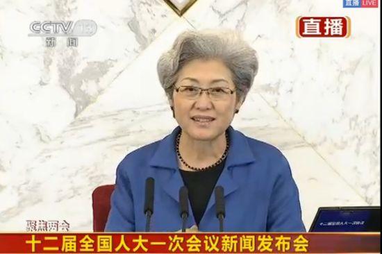 """全国人大发言人傅莹曾是""""外交铁娘子"""""""