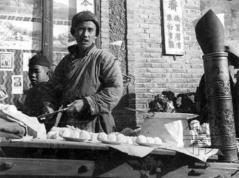追思老北京的摊位实物陈列广告
