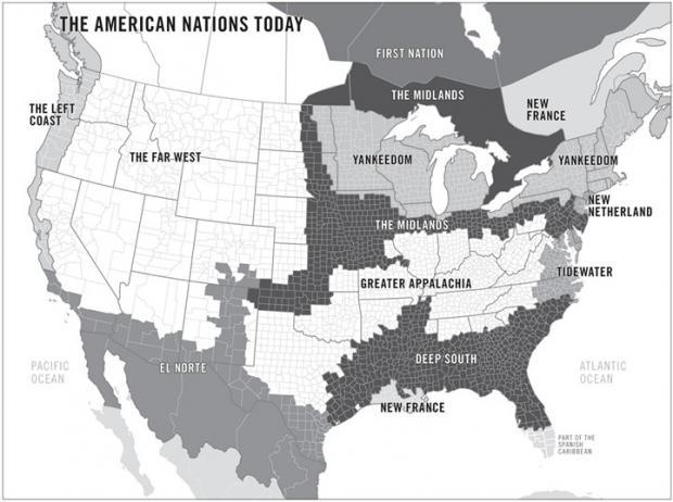 美国的文化区域:简介