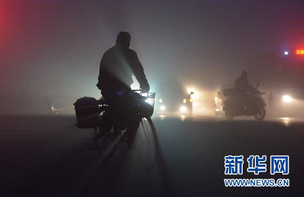 内地近一周100多座大中城市出现重雾霾