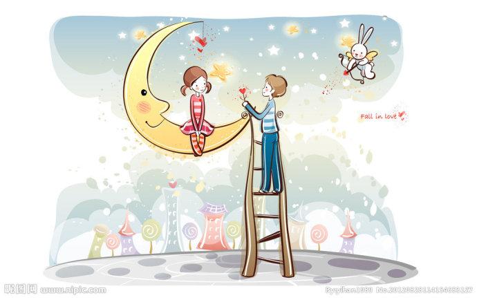 到月球去谈情说爱
