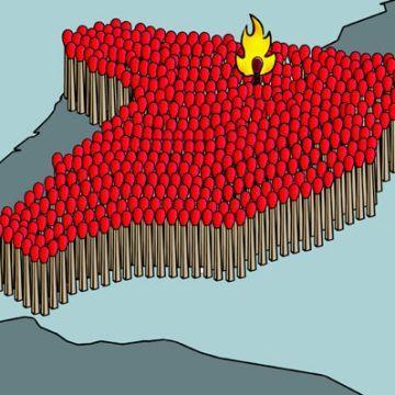 西班牙抗议游行:政者,抗道也