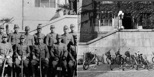 日军占领清华旧照