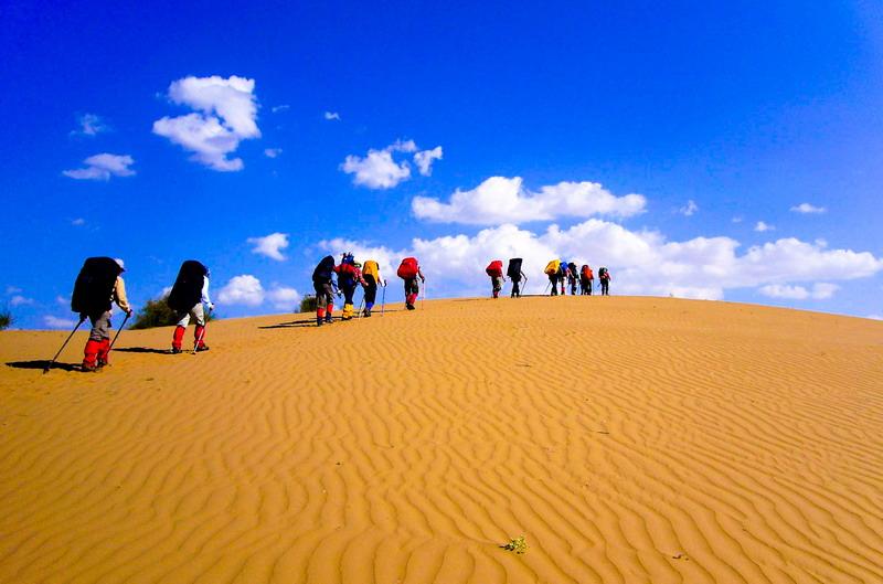10月17日库布齐沙漠徒步穿越,倾听响沙湾的奇妙音乐
