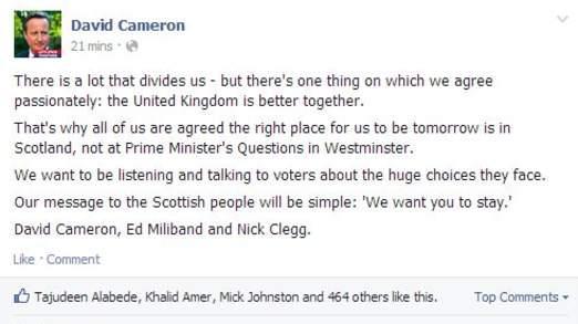 苏格兰公投中的宣传战