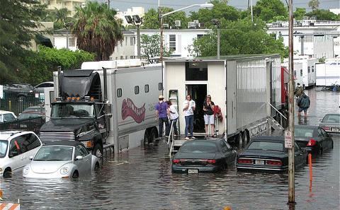 气候变化导致美国东海岸城市洪水频发
