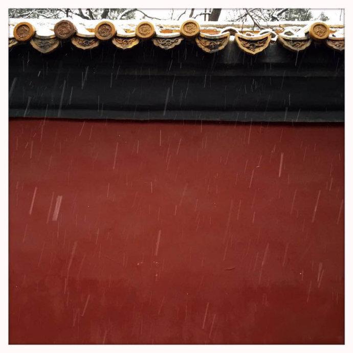 手机摄影:雪落京城