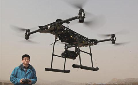 中国出动无人驾驶机监察污染