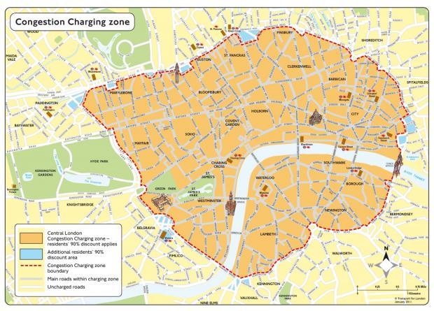拥堵收费如何帮助伦敦在一年之内将中心区域拥挤水平下降30%?