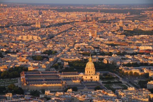 巴黎印象(2)•埃菲尔铁塔上看日落
