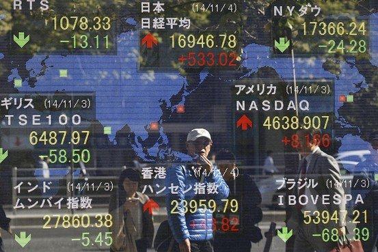 """中国""""双降"""" 亚洲股市全线上扬"""