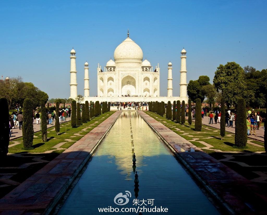 泰姬陵正面图像:在沙贾汗的视界里,泰姬陵的镜像是双重倒置