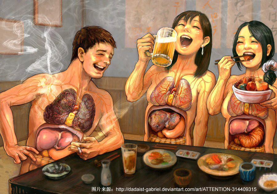 这张图你们看懂了吗?不健康生活习惯有什么危害?
