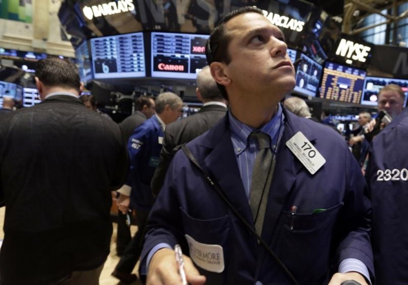 金融股回落  道指结束七连阳