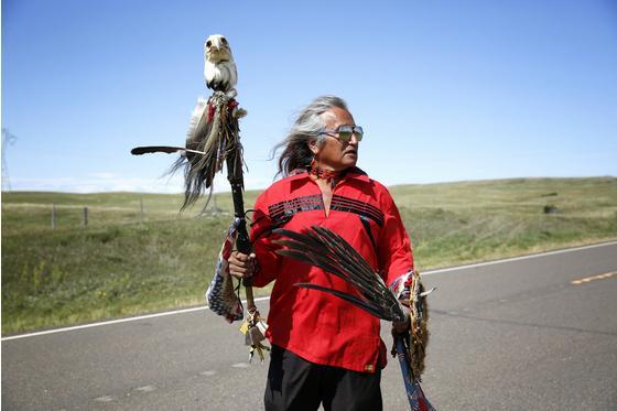 美国原住民抗议在建石油管道