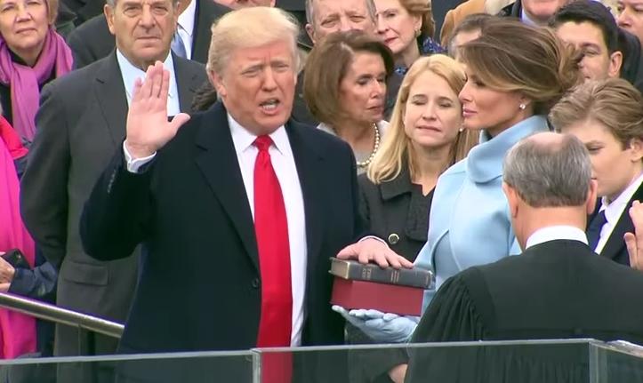 特朗普宣誓就职  道指结束五连跌