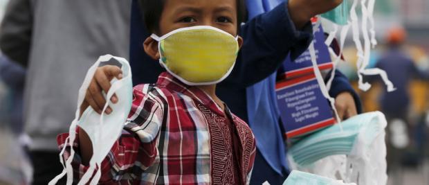 这张地图显示数百万儿童处在危险的重度污染之中