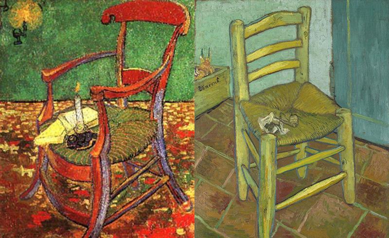 高更的椅子和梵高的椅子对比