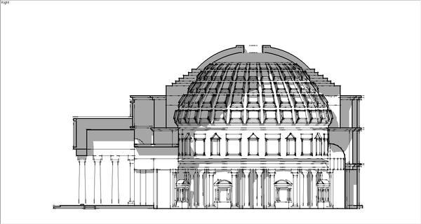 拱形地面建筑的比较 | 南京灵谷寺无梁殿和罗马万神殿