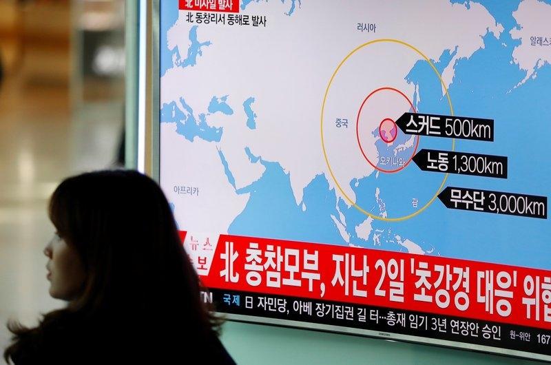 朝鲜试射导弹  美股下挫金融股大跌