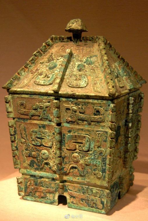青铜方彝(商代,华盛顿亚瑟·M.萨克勒画廊藏):用来祭拜天帝的器物