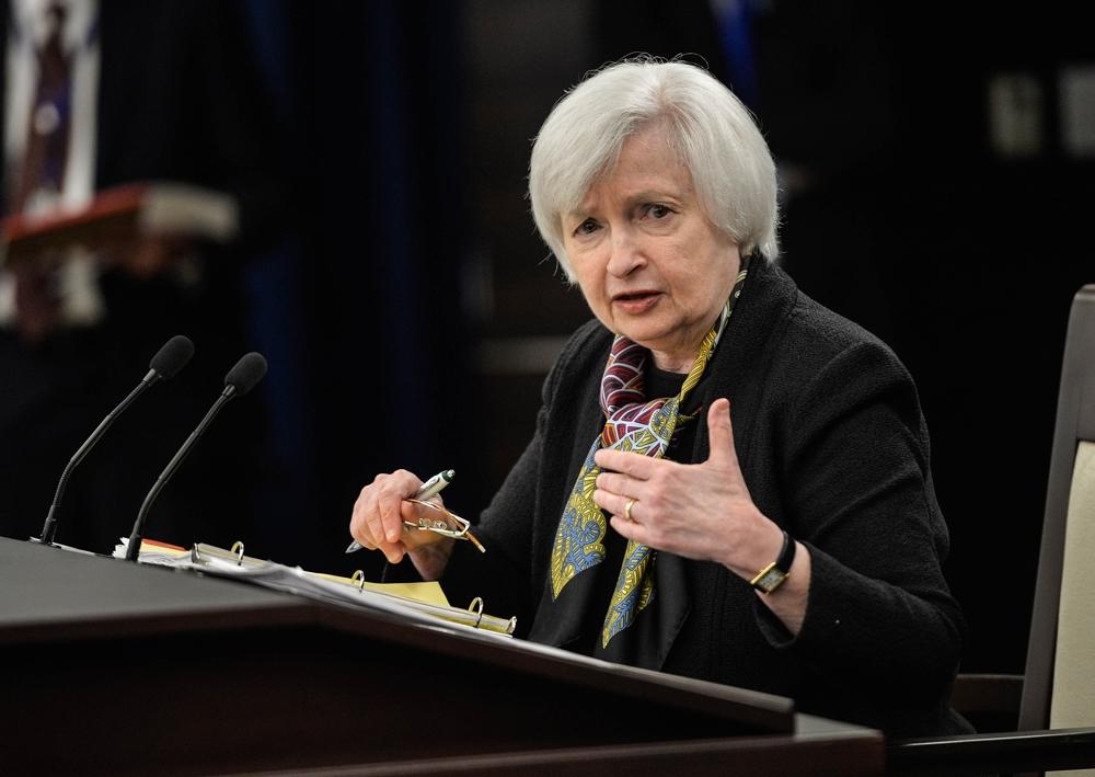 耶伦重申加息预期 美股变动不大