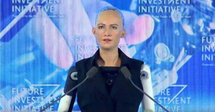 穿过机器人的传感器的我的手