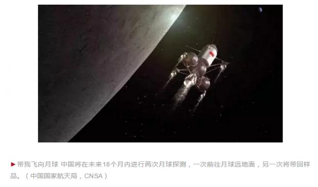 中国冲刺月球计划