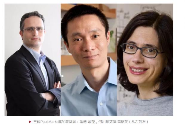 何川等人获得2017年保罗·马克斯癌症研究奖