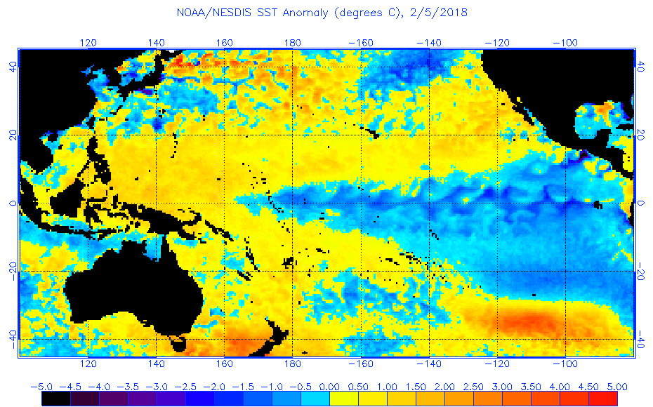 Figure 10: Current La Niña as of February 5, 2018.