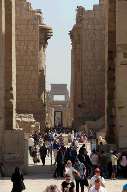 埃及尼罗河谷的灰褐色村庄