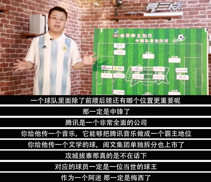 BAT中轴线!世界杯中国互联网队最佳阵容