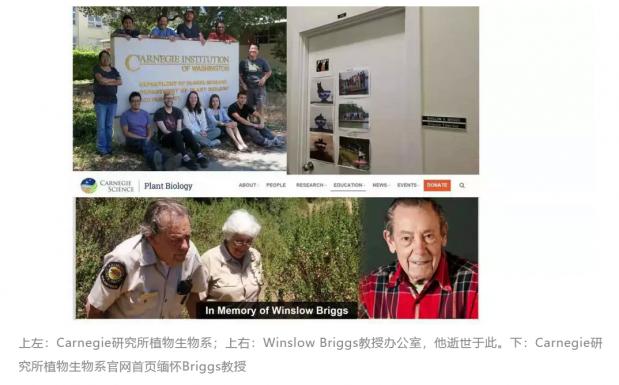邓兴旺:缅怀植物光生物学大师Winslow Briggs教授