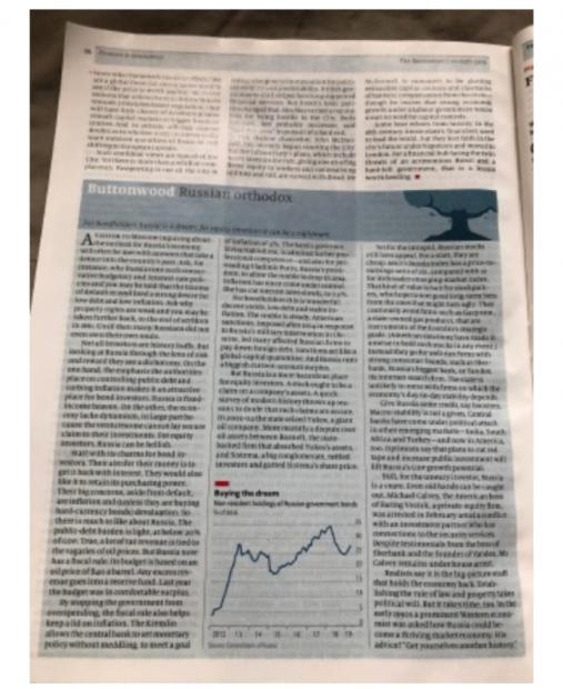 俄国股票与债券的两重天